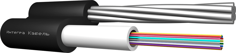 Подвесной оптический кабель с тросом для воздушной прокладки